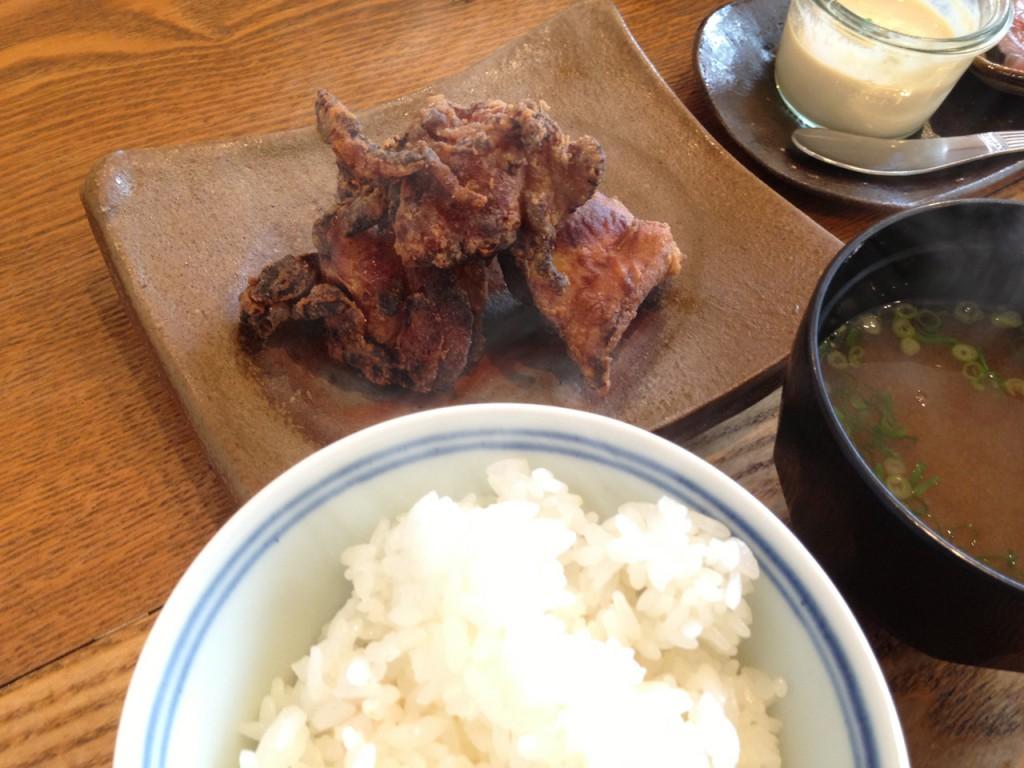 川俣地鶏の味噌漬け唐揚げ